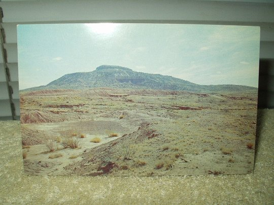 tucumcari new mexico mountain near highway 66 vintage unused postcard 1960's
