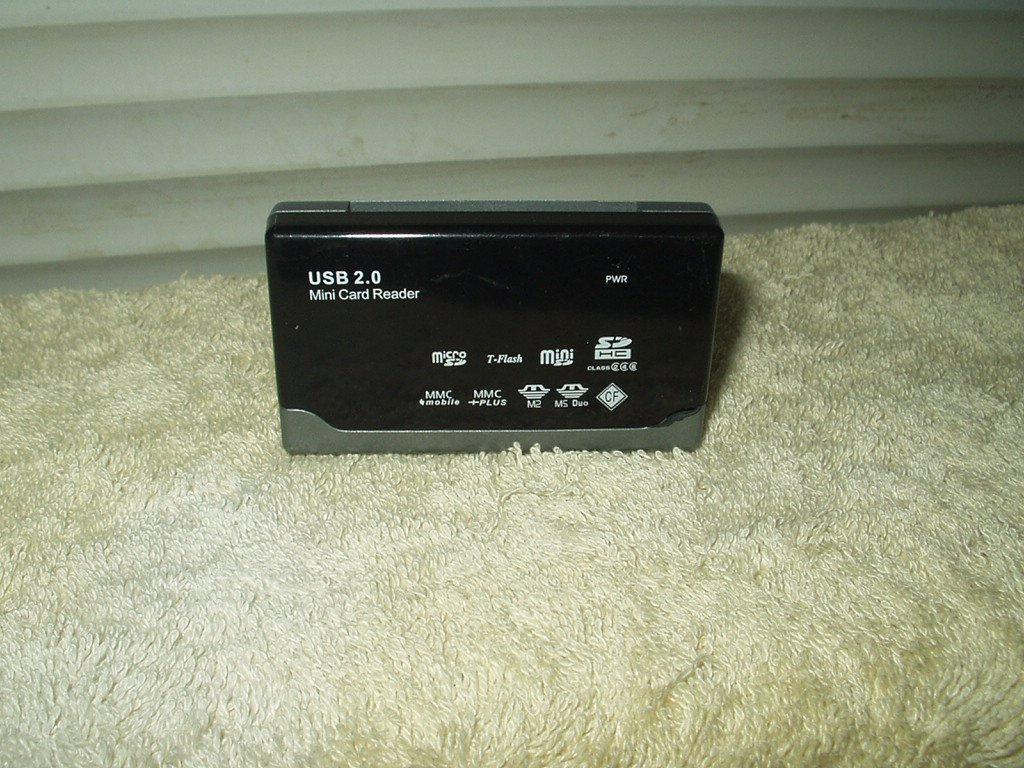 usb 2.0 mini card reader only micro & mini sd t-flash h hc mmc m2 ms duo cf