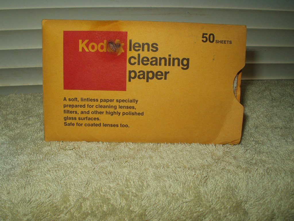 "KODAK LENSE CLEANING PAPER PACK OF 50 5"" SHEETS"