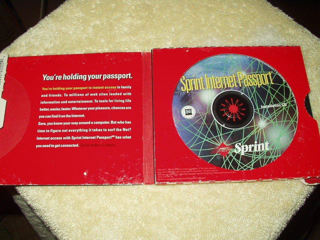 sprint internet passport vintage internet connection software for windows 95