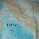 "map of italy 22.75"" wide x 34"" tall national geographic reprinted 2007 2 sides"