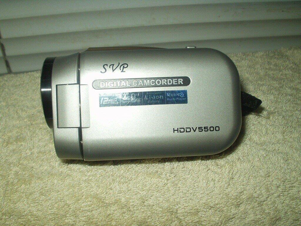 svg digital camcorder hddv5500 w/ working battery & strap handle