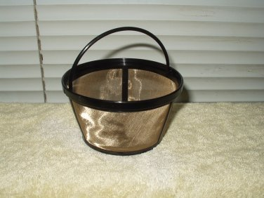 coffee filter with handle reusable gold color metal screen....10-12 cups