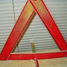 "triangle warning reflector with metal adjustable base 17"" each side 1 only"