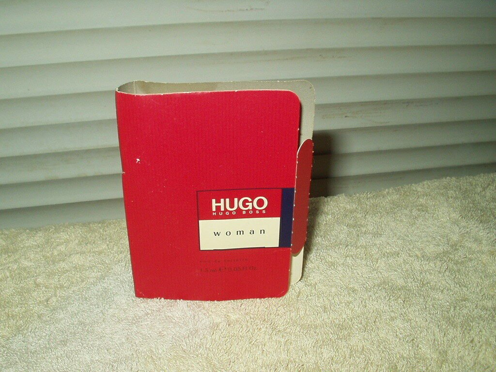 hugo boss hugo woman's eau de toilette vial .05 fl oz.