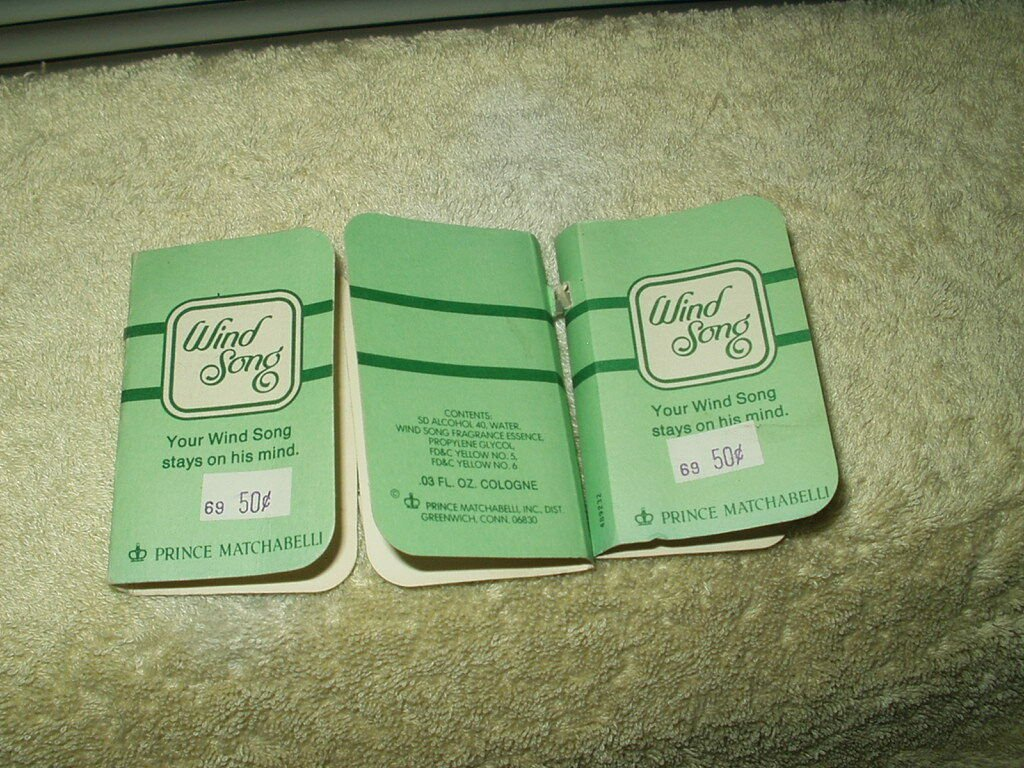 vtg wind song cologne prince matchabelli lot of 3 samples approx .07 oz total