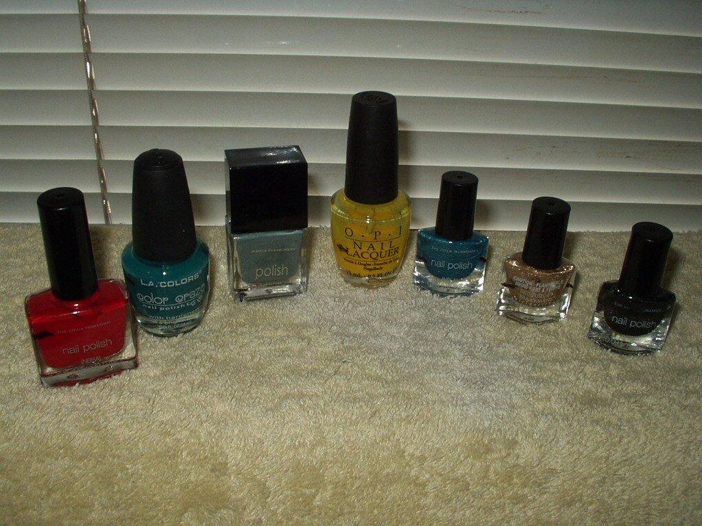 nail polish opi la works color workshop sparkle most partial bottles lot of 7