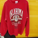 vintage oklahoma sooners vs clemson january 2, 1989 citrus bowl xl red sweatshirt