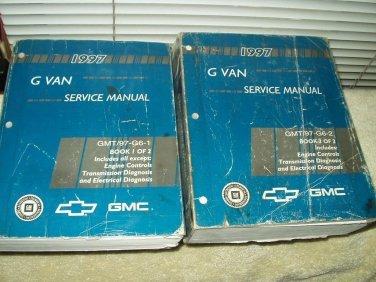 1997 gmc g van savana chevy chevrolet express dealer service manual set of 2