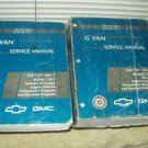 1997 gmc g van savana chevy chevrolet express dealer service manual set of 2