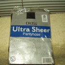 "excell ultra sheer panty hose pantyhose black one size fits 5'-5'.9"" 100 - 160 pounds #4001"
