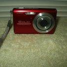 casio exilim ex-z75 digital camera red 7.2 mp 1gb memory card & manual