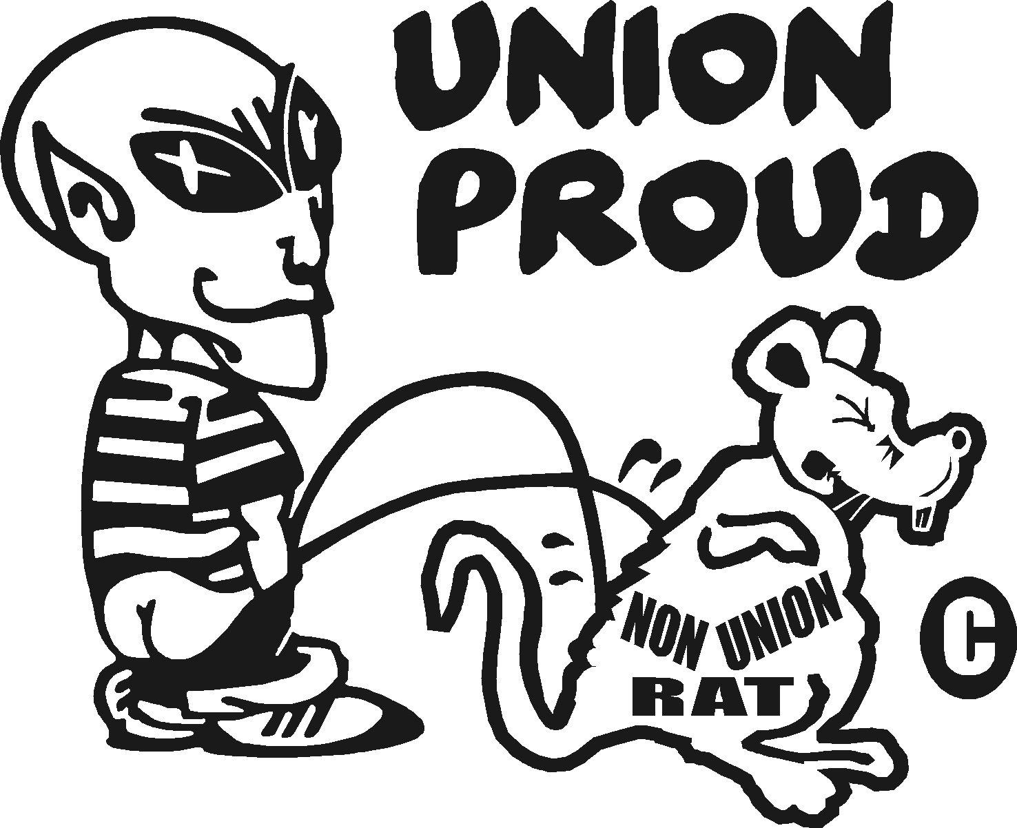 pro union teamster electrician trucker postal grocery engineer vinyl sticker
