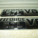 TOYOTA TUNDRA IFORCE 5.7L V8 SILVER BLACK FRONT EMBLEMS SET OF 2