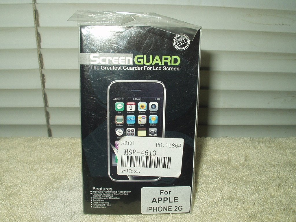 apple iphone 2g pet lcd screen guard #msp-4613