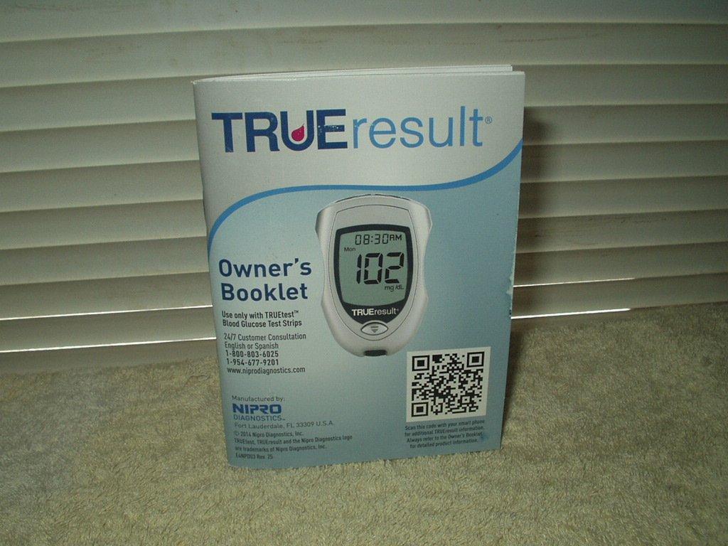 """true result trueresult meter / monitor """"manual"""" only in english & spanish"""