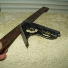 """vintage combination square 12"""" & mm w/ scribe tool usa made woodworking stonemason metalwork"""
