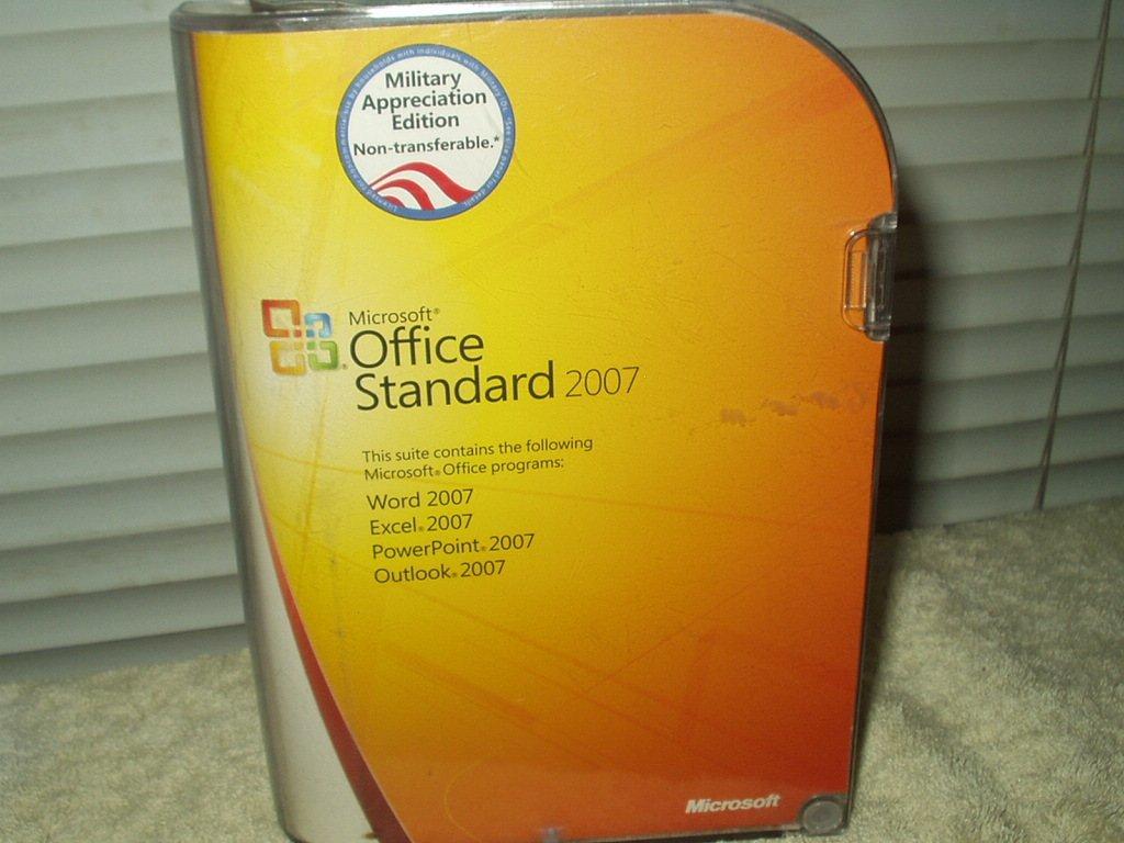 microsoft office standard 2007 military appreciation edition w/ license....