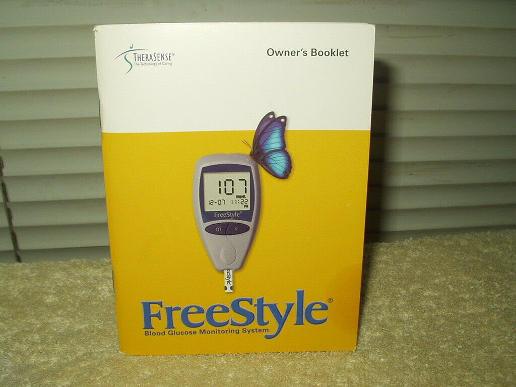 """freestyle therasense glucose meter / monitor """"manual"""" only in english"""
