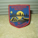 vintage boy scouts patch iron on 1992 fall camporee quinsigamond district