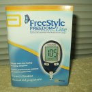 "freestyle freedom lite glucose meter monitor ""manual"" only in english & spanish"