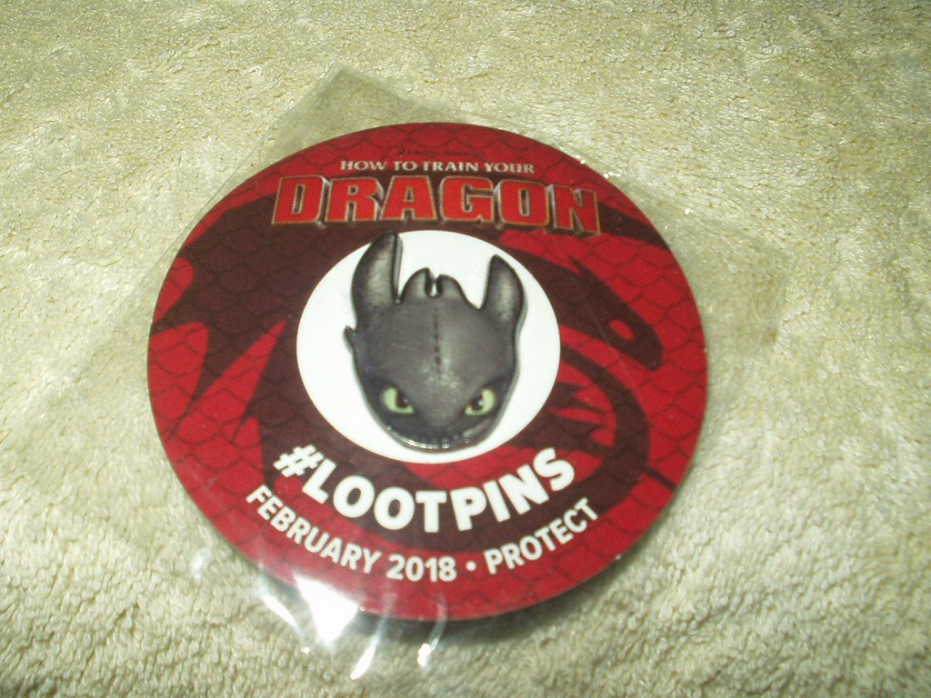 pin dragon #lootpins february 2018 protect lootcrate