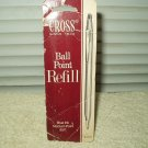 vintage cross ball point pen refill blue ink medium point #8511 works