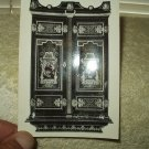 vintage wallace collection postcard f61 wardrobe a.c. boulle 1642-1732 black & white