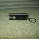 horace mann labeled mini led flashlight for keychain black & silver colored working
