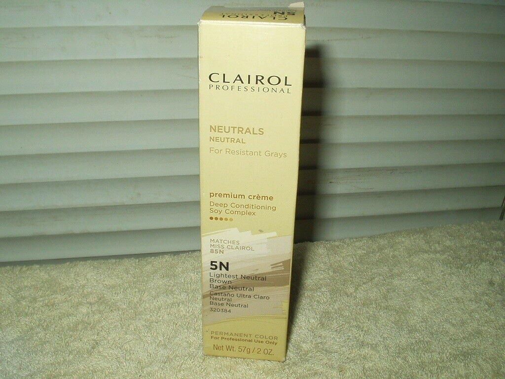clairol 5n lightest neutral brown hair color 2oz for resistant grays miss 85n