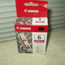 canon bci-6m magenta ink tank sealed in box free returns