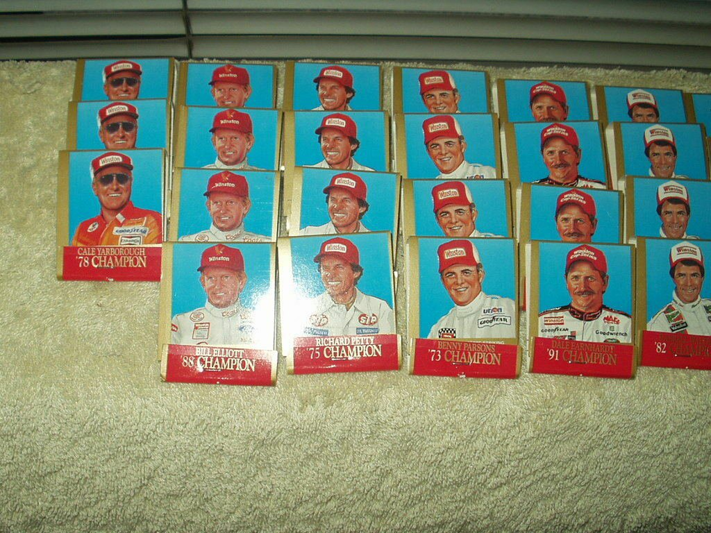 nascar 1994 winston cup series 25th anniversary lot of 45 matchbooks