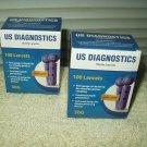 us diagnostics 30g universal lancets 2 boxes of 100 200 total exp 05/15/2023