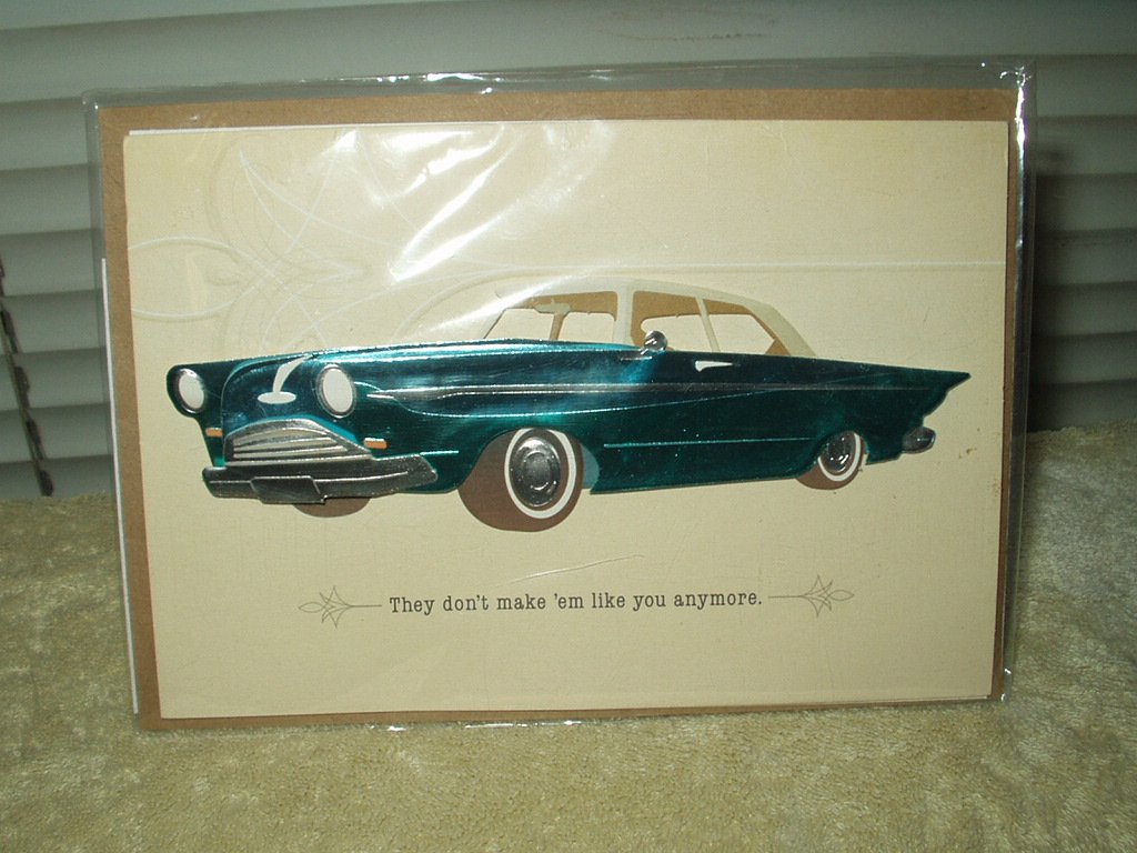 classic car father's day card hallmark signature series # IMM6152 sealed