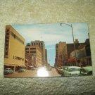 vintage broadway street view wichita kansas  1950's unused postcard