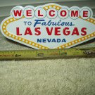 "welcome to fabulous las vegas magnetic aluminum sign 4.75"" wide"