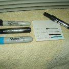 krink k-70 & super sharpie + inc perm black & sharpie blue marker lot of 4 ea