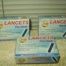 us med 30g universal lancets fine gauge 3 boxes of 100 300 total exp 06/15/2020