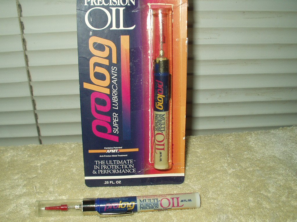 prolong multi-purpose precision light oil lot of 2 .25 oz pen tubes 1 slight use