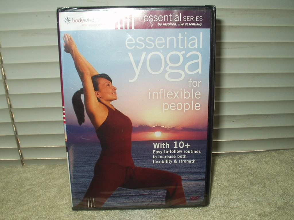 essential yoga dvd for inflexible people by body wisdom sealed 10+ routines