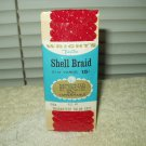 vtg wright's trimtex shell braid red 65 2.5 yards color fast mercerized