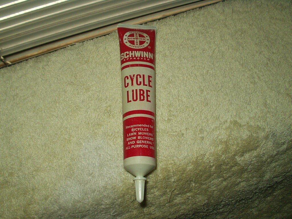 vtg schwinn cycle lube white multi-purpose grease 1.6 oz tube water resistant