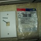 leviton 41080-1wp quickport 1 port single gang wallplate