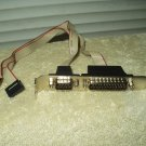 db9 rs 232 serial & parallel port expansion card w/ 10 pin connectors