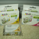 ld-t127320 magenta ink cartridge epson stylus & workforce printers + ld-t127420 yellow lot of 2
