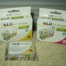 ld-t127320 magenta ink cartridge epson stylus & workforce printers + ld-t127420 yellow lot of 2