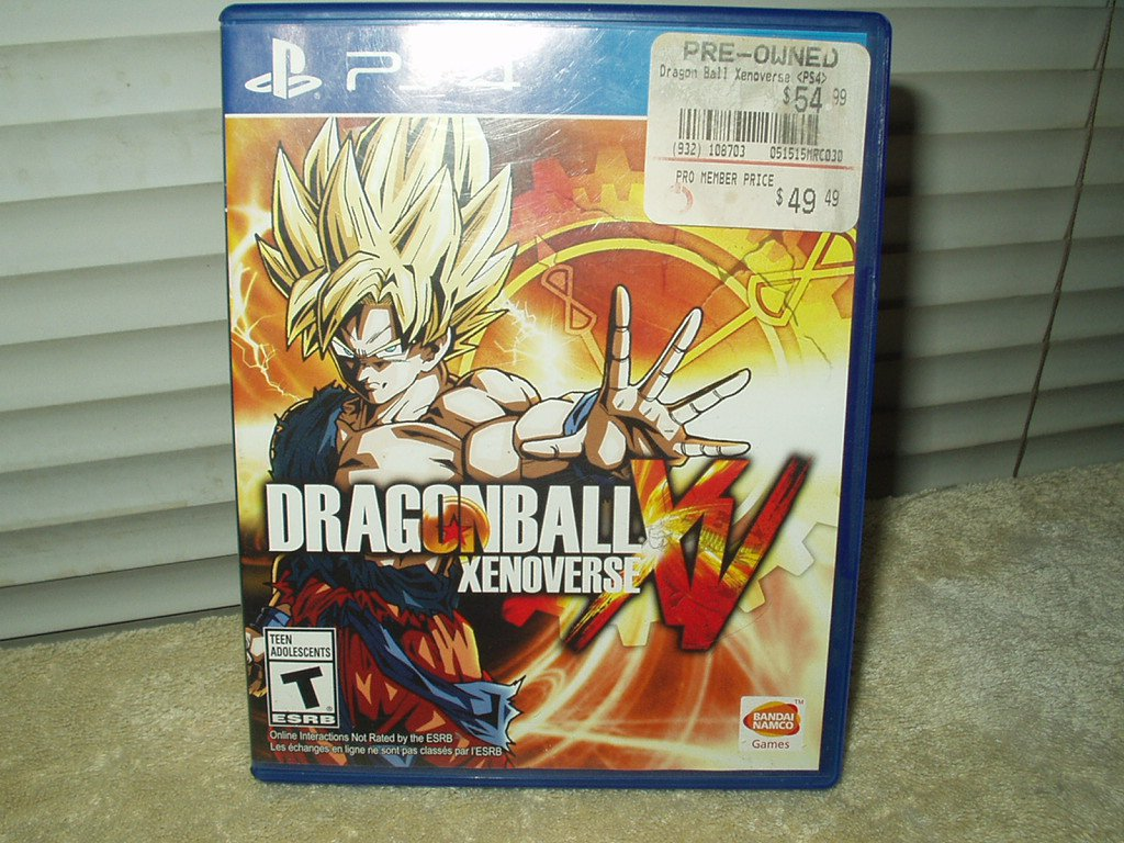 dragonball xenoverse dvd sony play station 4 from 2015