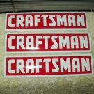 "craftsman tools set of 3 full color vinyl stickers approx 6.9""wide x 1.75"" tall each imperfect"