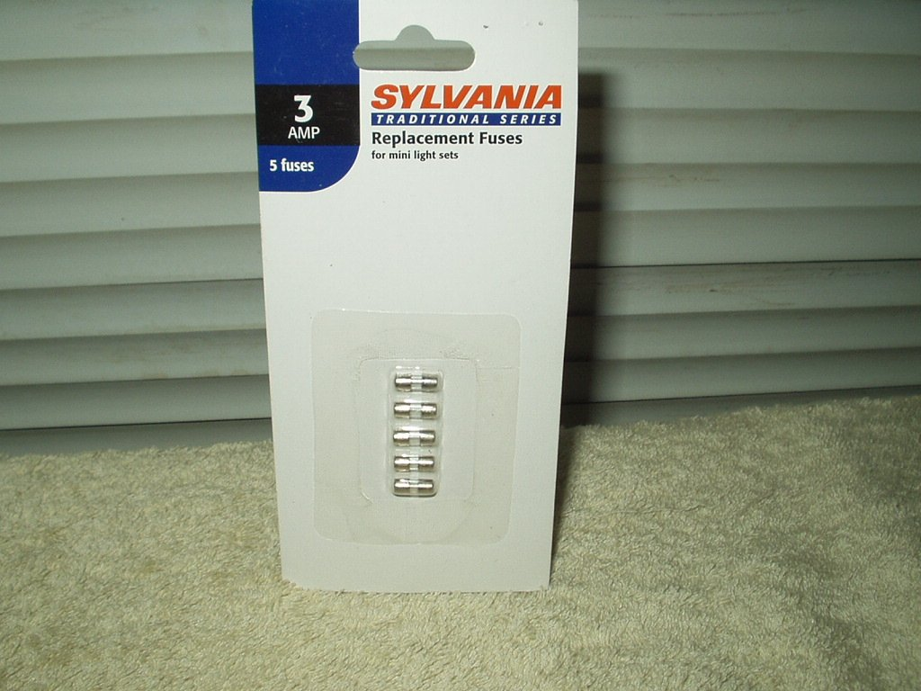 sylvania 3 amp fuses for mini xmas light sets 1 pack of 5 each # v1267