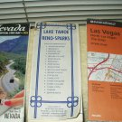 vintage reno-sparks-tahoe maps + year 2000 nevada state map 3 ea